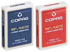 Copag - Poker, 4 corner jumbo index, brick 12pk