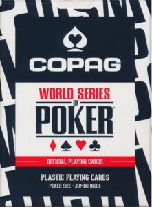 World Series of Poker kortstokk - Svart